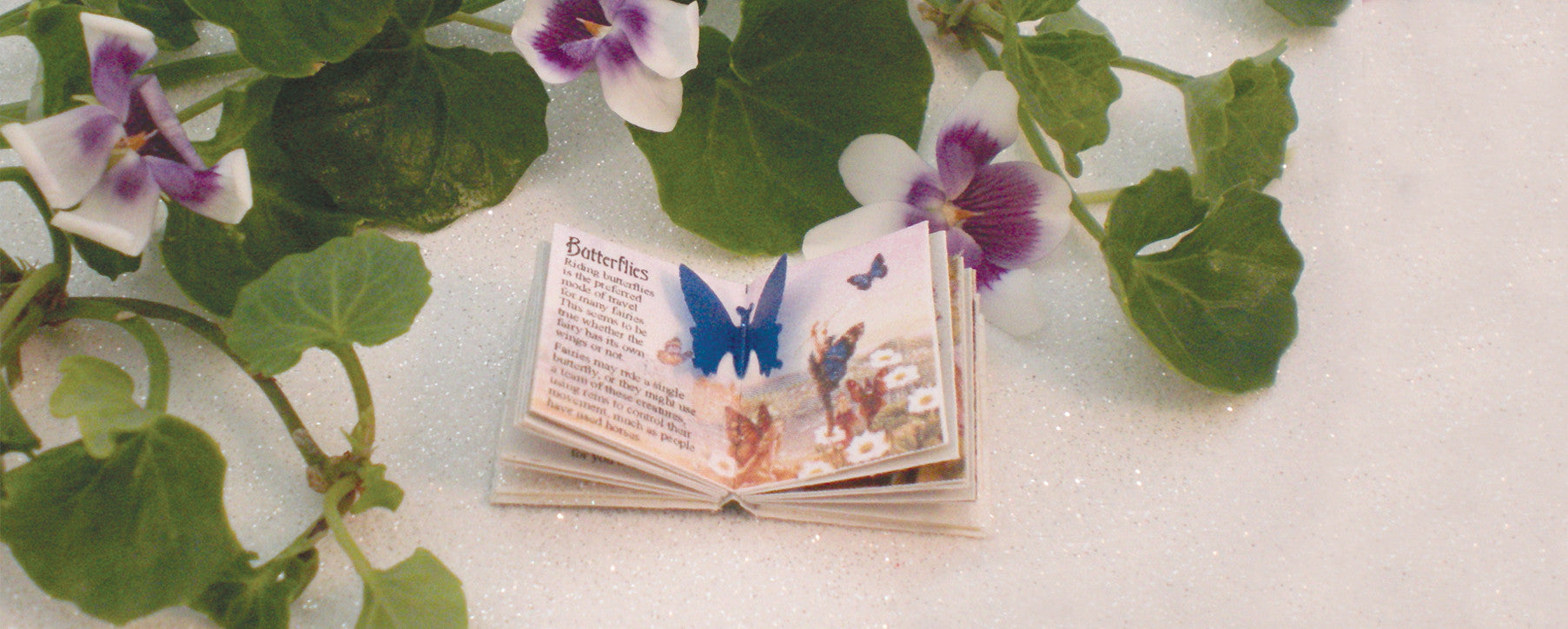 Fairy Book 1:12 scale miniature book by Michelles Miniatures