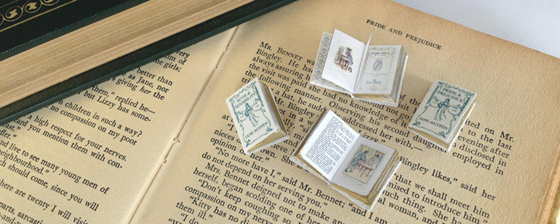 Jane Austen 1:12 scale miniature book by Michelles Miniatures