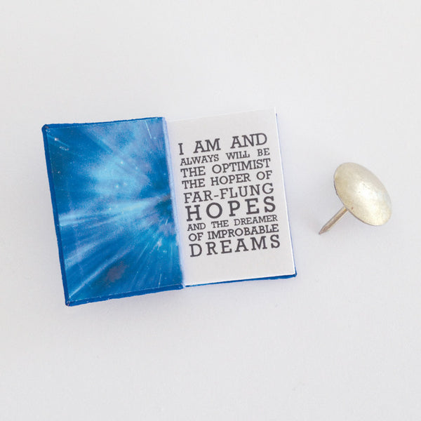 Dr Who inspired diary with quotes