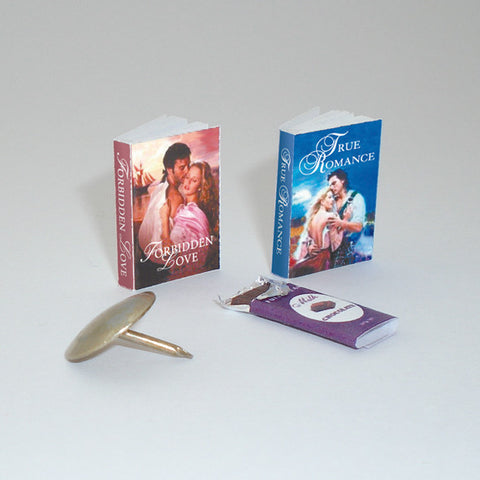 Paperback Romance Novels & Chocolate Bar
