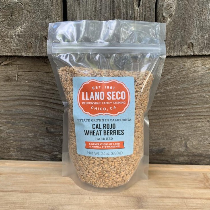 Cal Rojo Wheat Berries Delivered From California's Rancho Llano Seco | Hard Red Ancient Grains | Shop Sustainable Dry Goods & Pantry Staples Estate Grown