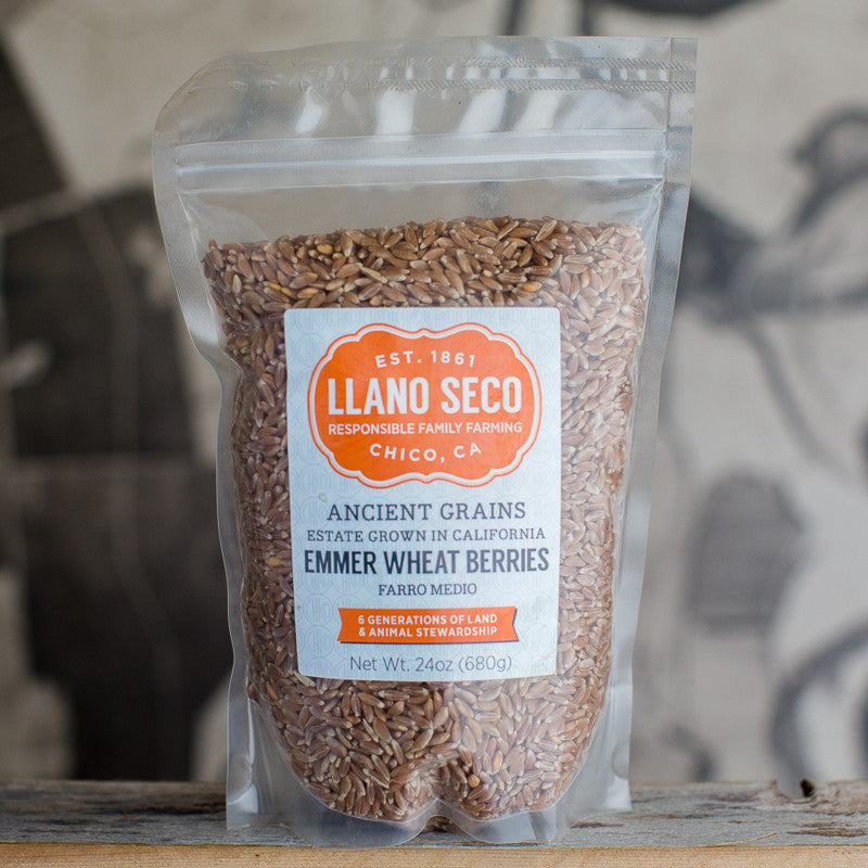 Shop Emmer Wheat Berries | Order Farro Medio | Estate Grown California Ancient Grains | Delivered From Historic Rancho Llano Seco