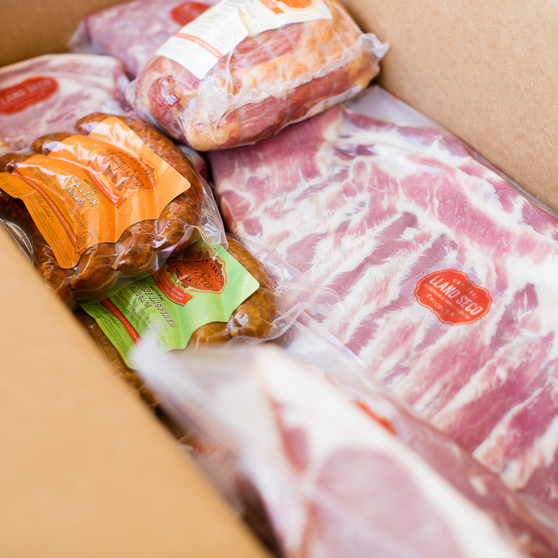 Local and Sustainable California Pork| Rancho Llano Seco| Mixed Box