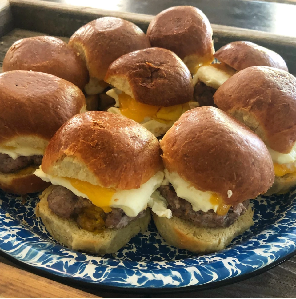 Order Humanely Raised Breakfast Meats | Breakfast Sliders Using Rancho Llano Seco Pre-Seasoned Ground Breakfast Sausage | Delivered From California's Historic Family Farm