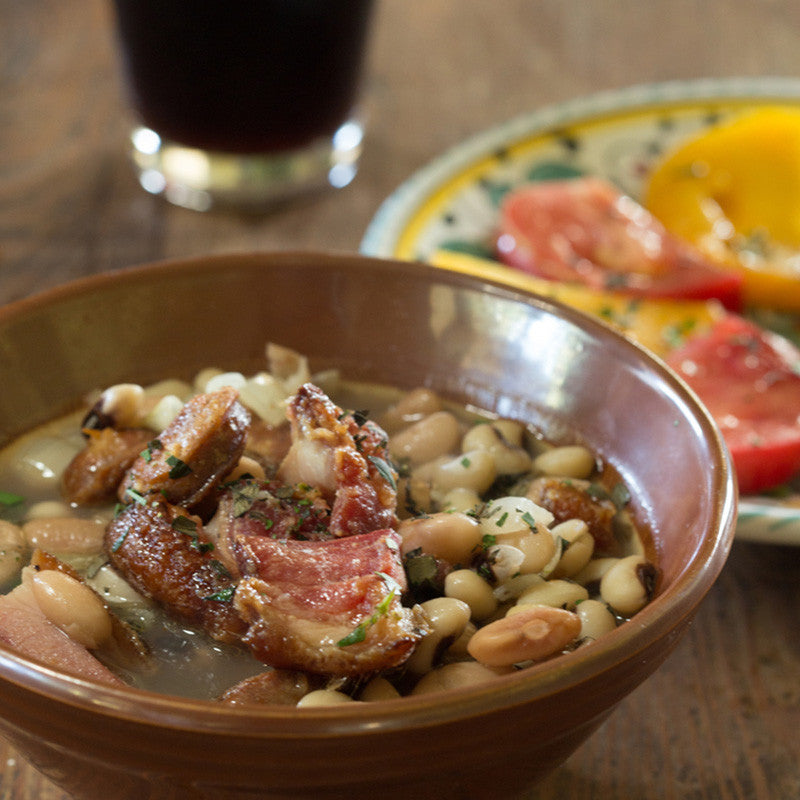 Slow Cooker Black Calypso Beans with Beer and Bacon
