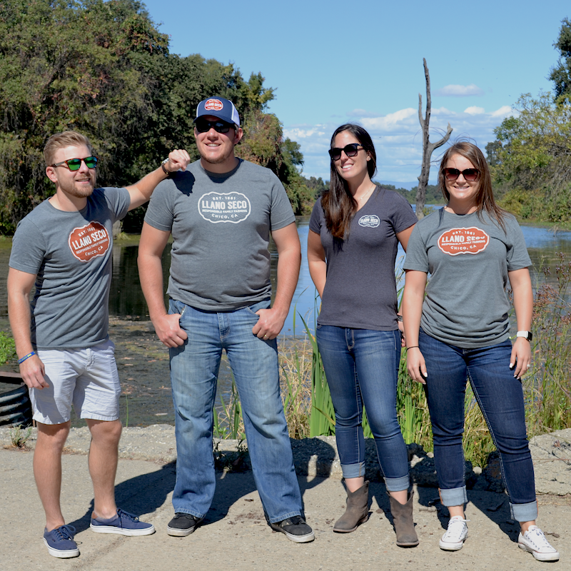 Order Rancho Llano Seco branded logo t-shirts for men and women. Shop online for all of your favorite Llano Seco farm merchandise. Great gear gifts for friends, family and clients.