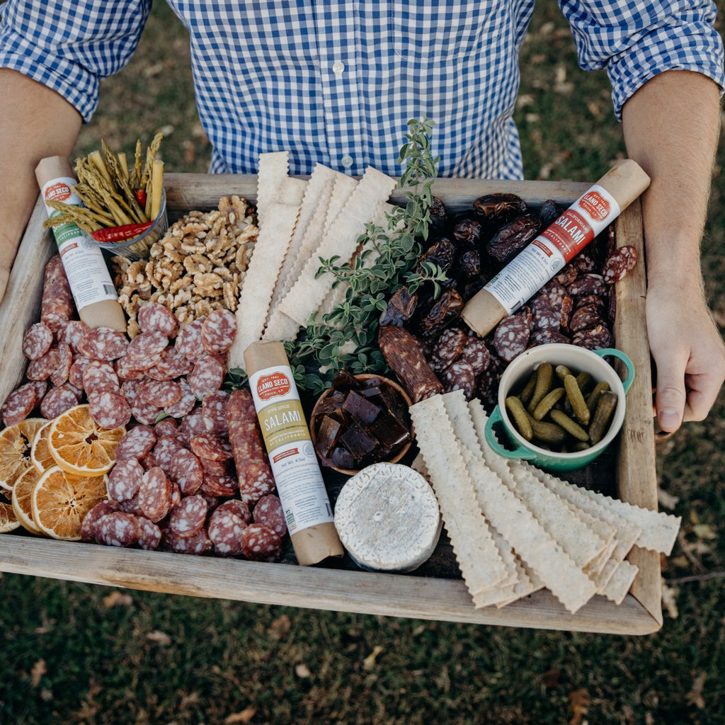 Order The California Heritage Salami Sampler | A trio of salamis including Californiano, Hibernian and Chinese Five Spice Inspired | Delivered from California's Historic Rancho Llano Seco | Salami Gift Trio | Order Online | Responsible, sustainable and ethical family farm | Heritage pork