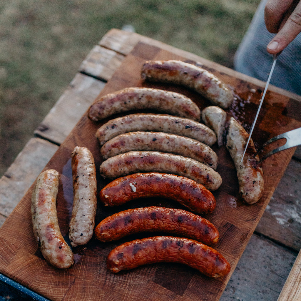 Order California Heritage Pork Sausage Links | Humanely raised pork delivered from historic Rancho Llano Seco | Toulouse, Alsatian, Sweet Italian & Chorizo Sausage