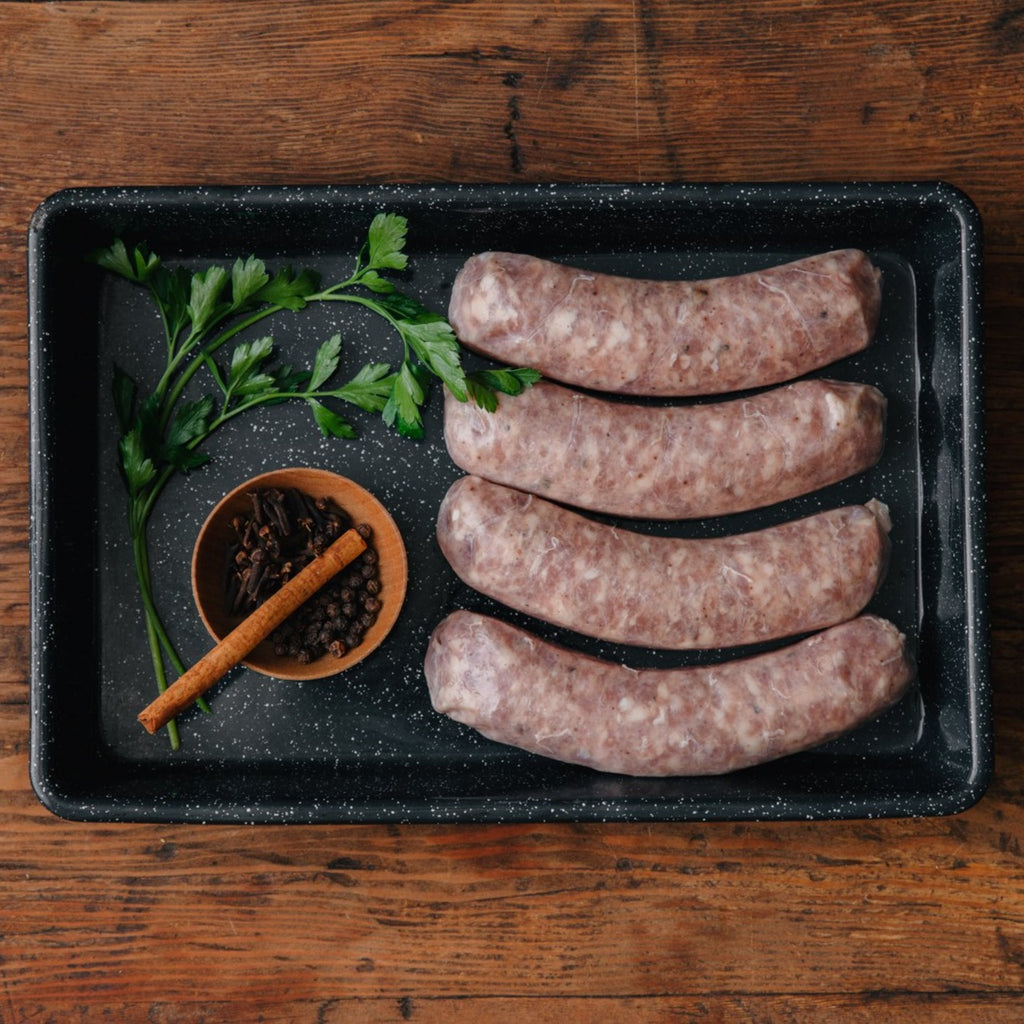 Order Alsatian Sausage | Shop Humanely Raised Heritage Pork Delivered From California's Historic Rancho Llano Seco | Responsible Family Farming