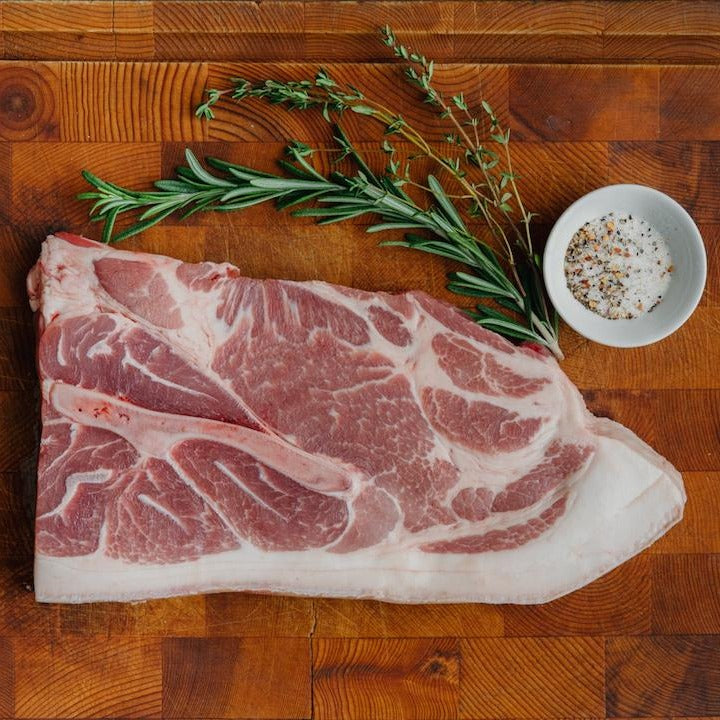 Order Heritage Pork Shoulder Steak Delivered From California's Historic Rancho Llano Seco | Shop Sustainably Raised Meat