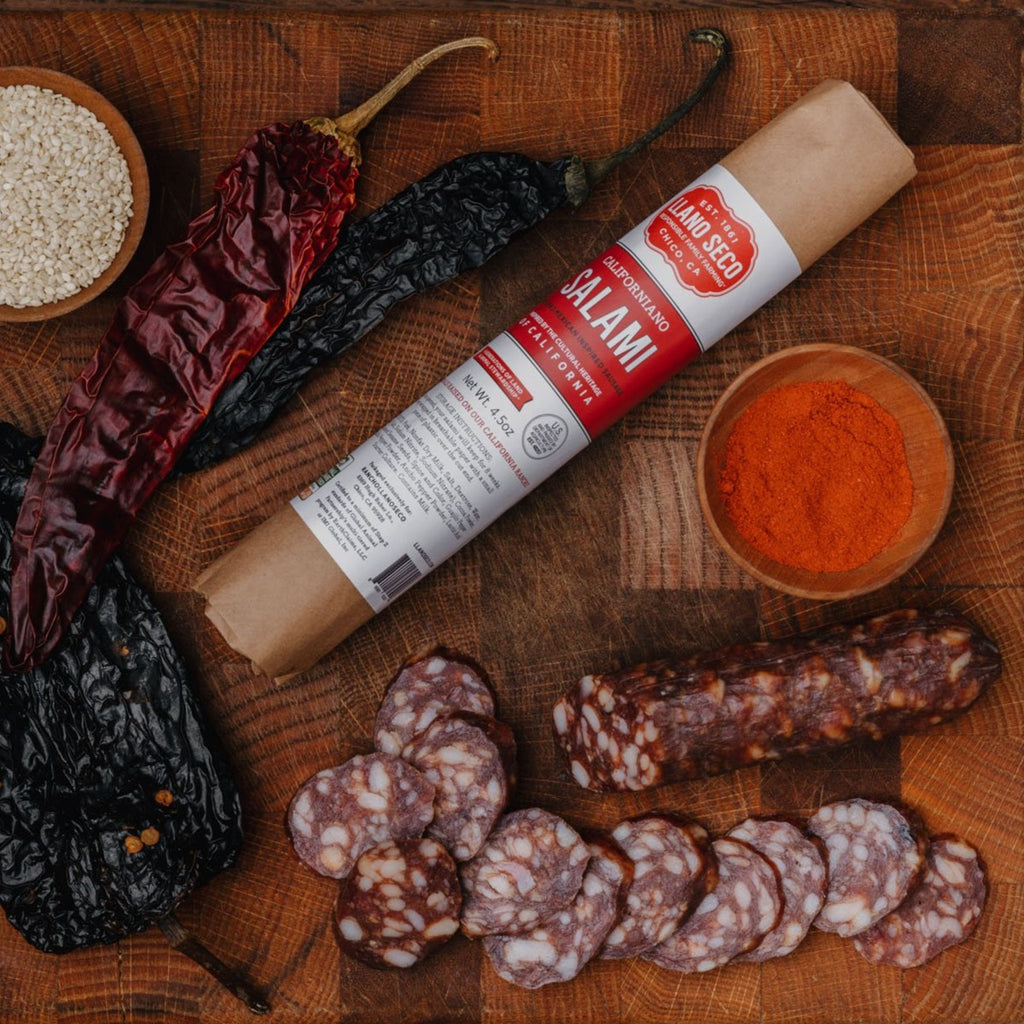 Order Californiano Salami | Buy humanely raised pork | Charcuterie delivered from our family farm | Shop California's Historic Rancho Llano Seco