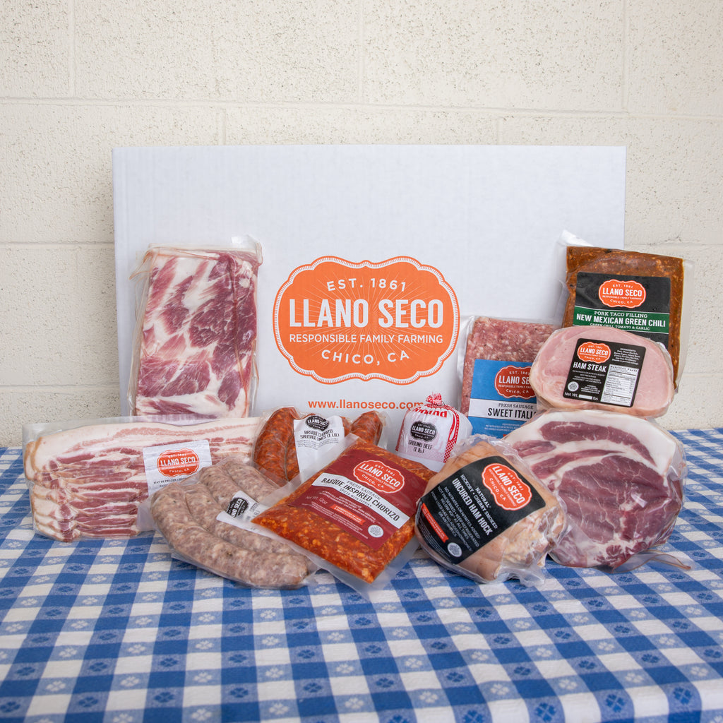 Rancho Family Meat Box | Subscribe & Save | Order Sustainable Humanely Raised Pork & Beef Delivered From Our Family Farm, Historic Rancho Llano Seco