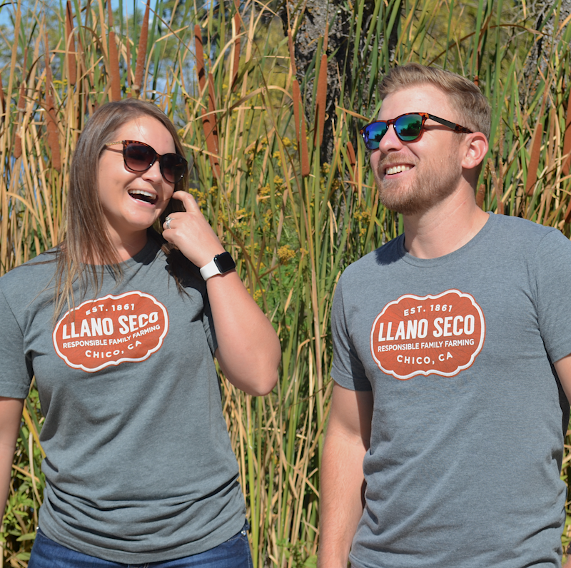 Order our classic cozy branded Rancho Llano Seco Tee for men and women. Shop Llano Seco branded farm gear.