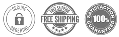 secure ordering, free shipping, 100% satisfaction guarantee
