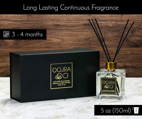 Laos White Tea and Ginger Essential Oil Reed Diffuser