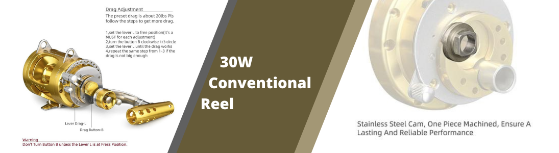 30w conventional golf reel banner