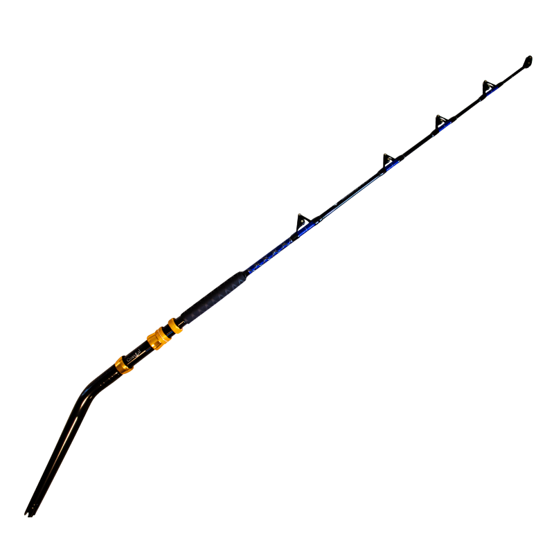 80-100 lb Bent Butt Roller Rod - Coastal Fishing