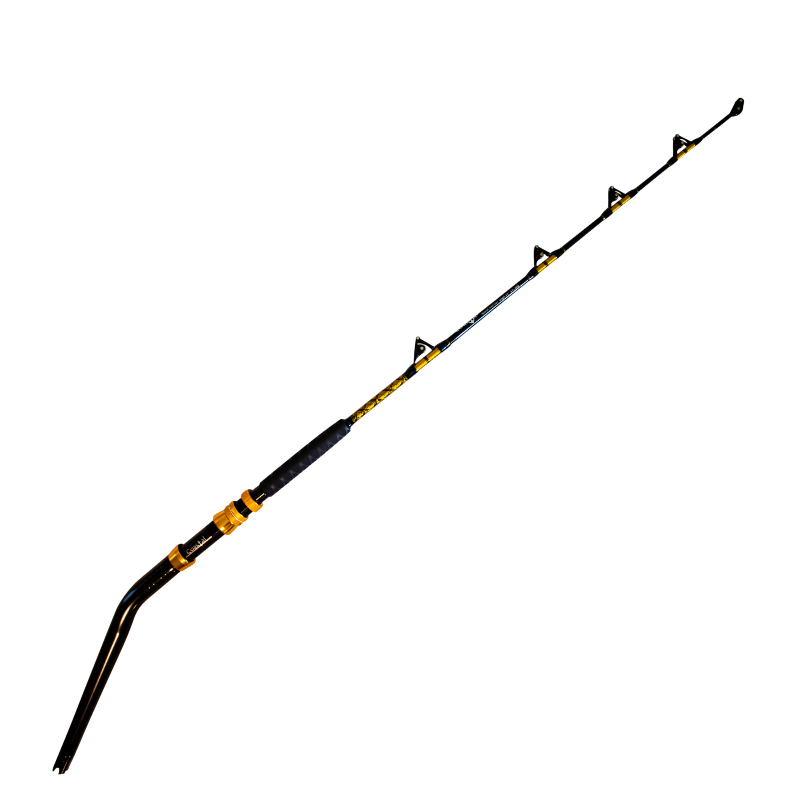 50-80 lb Bent Butt Roller Rod - Coastal Fishing