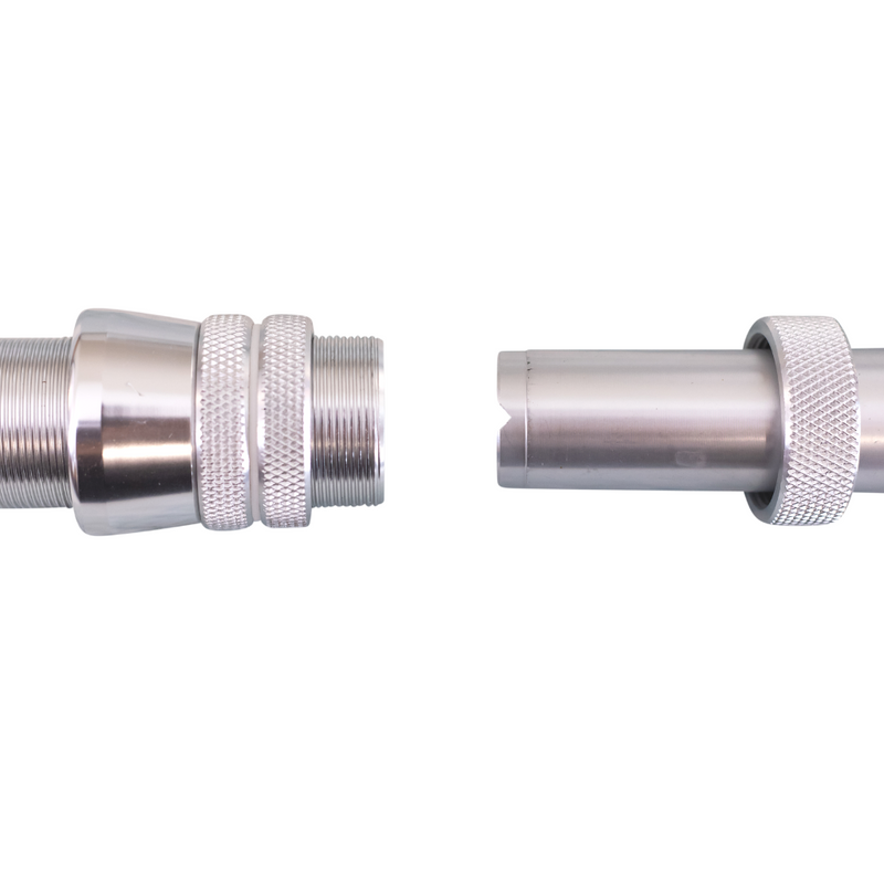male and female mounting point for rod and handle