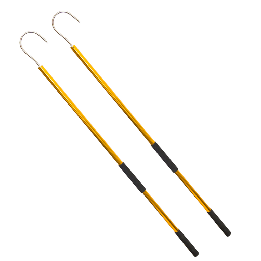 Two 45 inch Gold Coastal Gaffs - Coastal Fishing