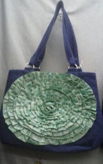 Large Green Flower Bag