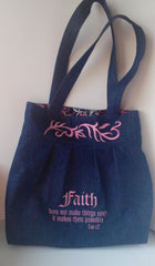 Pleated Scripture Bags