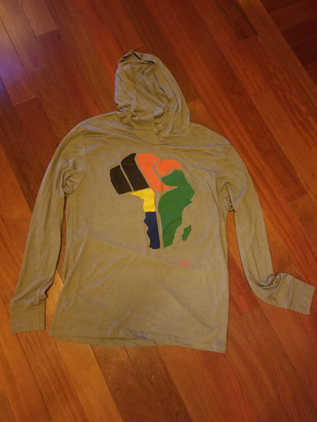Afrika Fist Lightweight Hooded Shirt