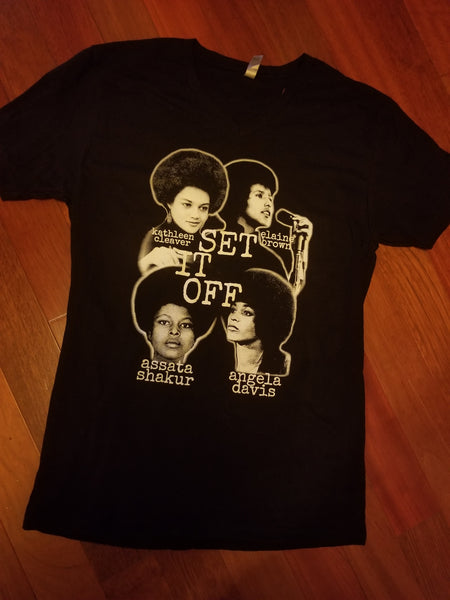 V-neck Set It Off Unisex Tee