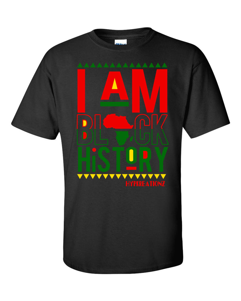I AM BLACK HISTORY ADULT TEE