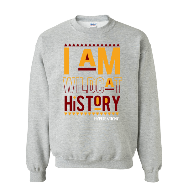 *BCU* I AM WILDCAT HISTORY SWEATSHIRT