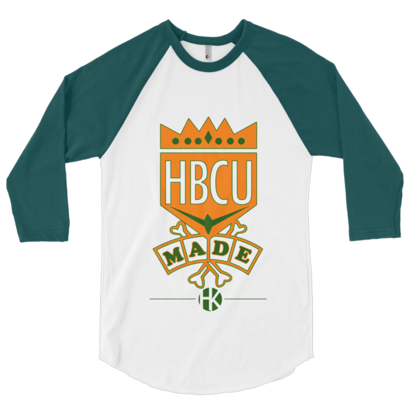 HBCU MADE - Green & Orange Raglan