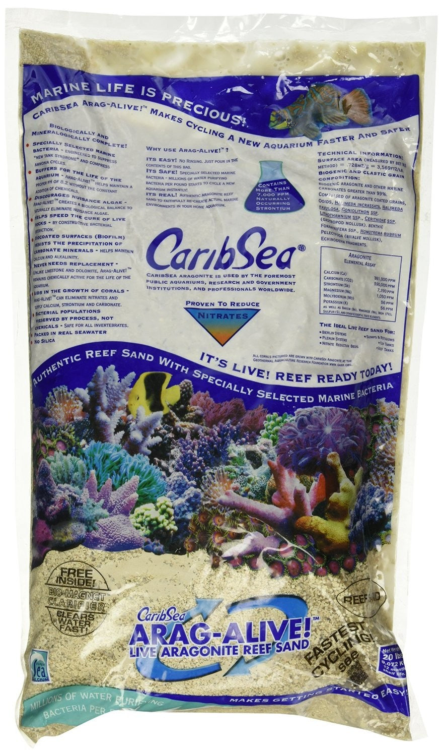 CaribSea Arag-Alive Special Grade Reef Sand