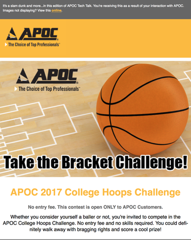 APOC 2017 COLLEGE HOOPS CHALLENGE!
