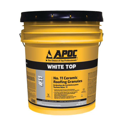 APOC<sup>®</sup> 11 White Top No. 11 Ceramic Roofing Granules