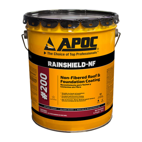 Apoc 174 200 Rainshield 174 Nf Non Fibered Roof Amp Foundation Coating