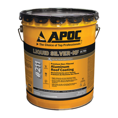 APOC<sup>®</sup> 211 Liquid Silver<sup>®</sup>-NF Premium Non-Fibered Aluminum Roof Coating