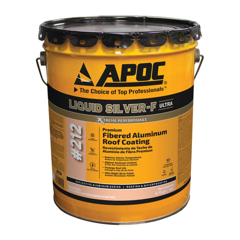 APOC<sup>®</sup> 212 Liquid Silver<sup>®</sup>-F Premium Fibered Aluminum Roof Coating