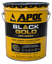 Apoc 174 115 Black Gold 174 Liquid Rubber Flashing Cement
