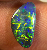 Lightning Ridge Natural Bright Blue Green Black Opal Stone 1.24ct Gem BOPC050915 - Black Opal Shop