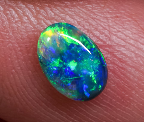 0.85ct Black Opal Ring Stone natural solid Australian gem BOPC291119