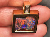 Black Opal 18k solid Yellow Gold Pendant BOPA68281119 - Black Opal Shop