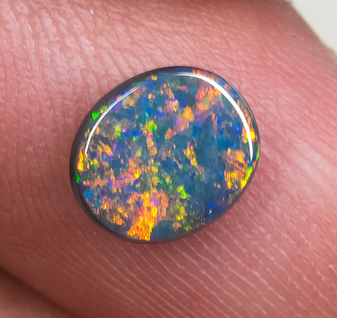 525312595 Black Opal Ring Stone Lightning Ridge natural solid 1.33ct ...