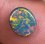 Black Opal Ring Stone Lightning Ridge natural solid 1.33ct Australian gem BOPB140818 - Black Opal Shop