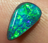 Black Opal Lightning Ridge natural solid 0.87ct Australian gem BOSE290817 - Black Opal Shop