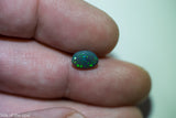 Black Crystal Opal Lightning Ridge natural solid 1.07ct Australian gem BOSC290817 - Black Opal Shop