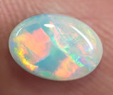 Natural Solid Rare Red-Orange Semi-Black Opal 1.30ct Lightning Ridge Gemstone - Black Opal Shop