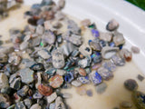 Black Opal Rough 1oz potch & colour lots, lapidary, practice cutting, cabbing - Black Opal Shop