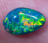 1.08ct Black Opal Ring Stone natural solid Australian gem BOPA160120 - Black Opal Shop