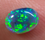 0.82ct Black Opal Ring Stone natural solid Australian gem BOPA291219 - Black Opal Shop
