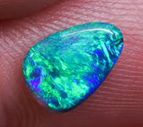 1.20 ct Black Opal Ring Stone natural solid Australian gem BOPE291219 - Black Opal Shop